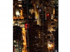 Paraván - City by night - Chicago, USA [Room Dividers]